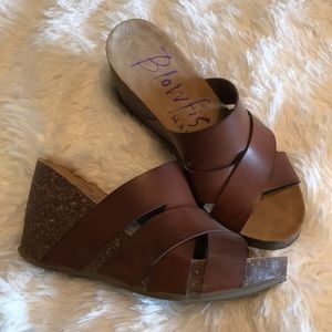 Blowfish Malibu Cork Sandals 7.5
